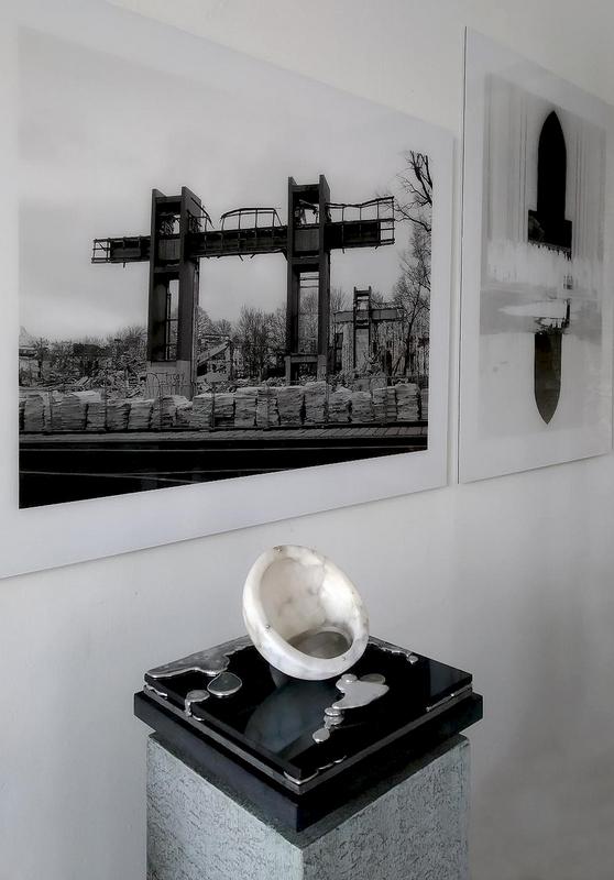 """Mercury falling"", Atelieraufnahme, Otto Berndt Steffen"