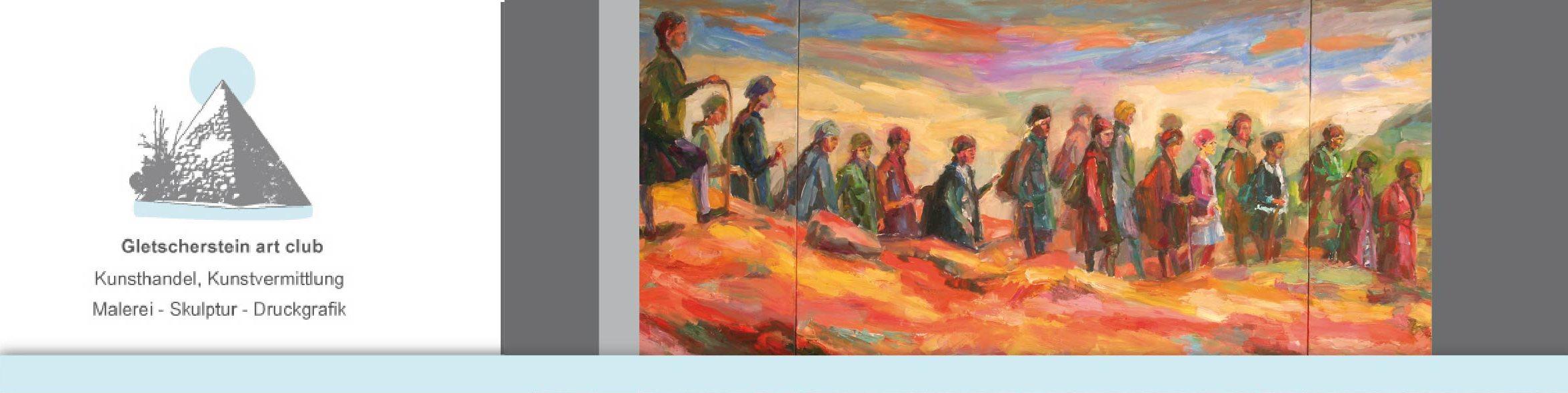 """""""Wie im Himmel"""" Kinder der Vergangenheit - Triptychon, 2012, 140 x 380cm von Mandy Friedrich"""