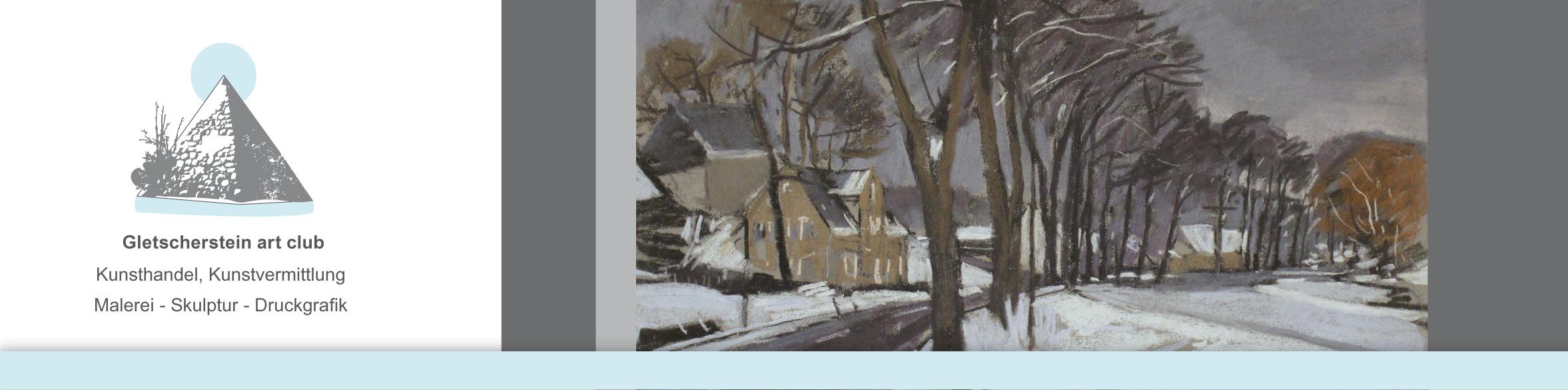 """""""Winter im Erzgebirge"""", 65 x 50cm, Pastell von Gerd Thielemann"""