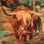 """""""Großer Büffel"""" Öl auf Leinen, 2007120 x 140cm"""