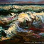 """""""Meereswellen"""" Öl auf Leinen, 2009 100 x 130cm"""
