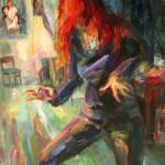 """""""Tanzende"""" Öl auf Leinen, 2006/ 2013200 x 120cm"""