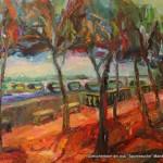 """""""Schattenpromenade"""" Öl auf Leinen, 2009/ 2014100 x 130cm"""