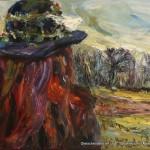 """Frau im Moor"" Öl auf Leinen, 2016 60 x 80cm"