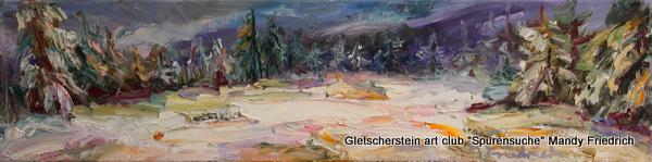 """""""Wintermorgen"""" Öl auf Leinen, 2016 20 x 80cm"""