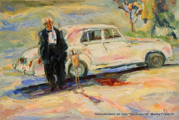 """""""Love Chauffeur"""" New York Öl auf Leinen, 2017 80 x 120cm"""